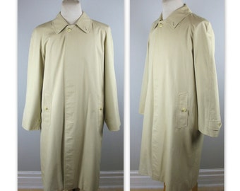 Vintage 80s Mens Burberrys Raincoat M (42 estimated) Nova Check lining