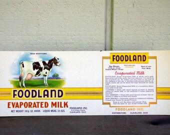 Foodland Evaporated Milk Label