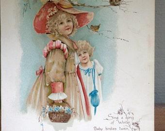 Antique Victorian Poetry Print