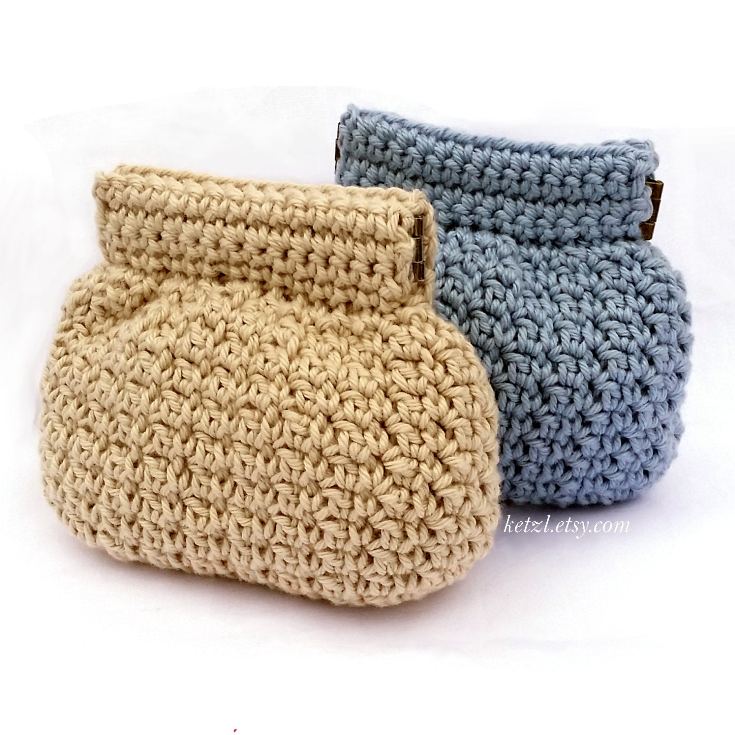 Purse crochet pattern coin purse pouch small squeeze frame by ketzl ...