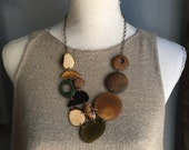 Statement necklace in earthtones