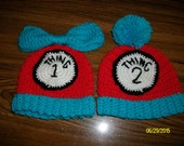 Thing 1 and Thing 2 Baby hats