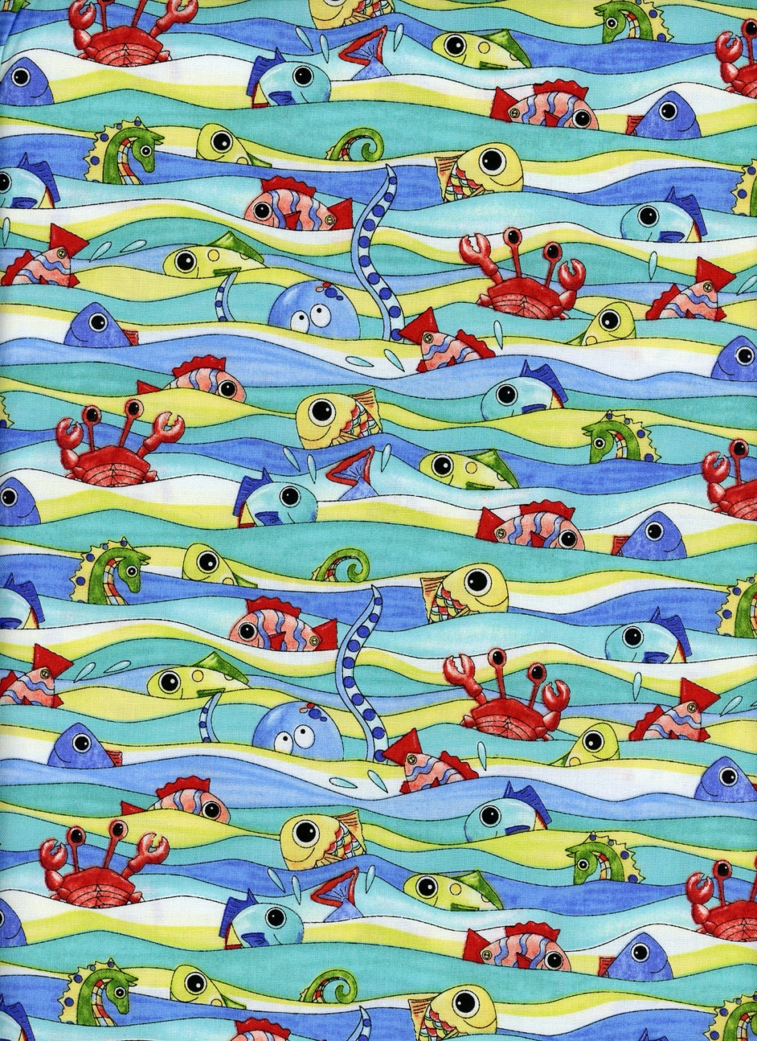 Under the sea ocean and beach themed fabric 31 piece for Fishing themed fabric