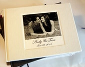 Personalized Wedding Guest Book. Wedding Guestbook with your photo on the cover. Wedding Guestbook. 8 x 10""