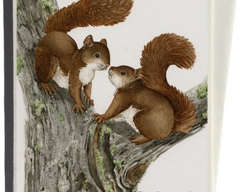 Squirrels Greeting Card by Tracy Lizotte