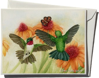 Hummingbird Garden II Greeting Card by Tracy Lizotte