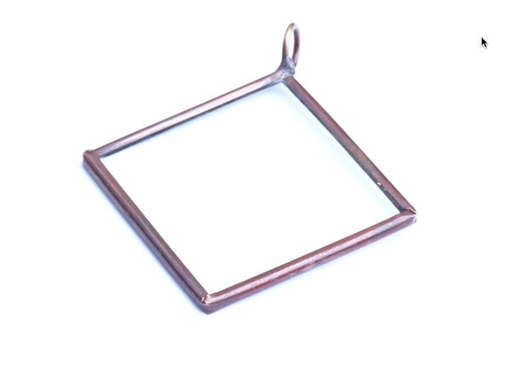 6 Our Glass Frame Clear Pendants, Glass, G2050