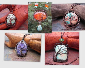 Tree of Life TUTORIAL, Instant Download, DIY, Wire Jewelry Pattern, Wire Wrap Tree of Life Pendant, Wire Wrapping Jewelry Tutorial