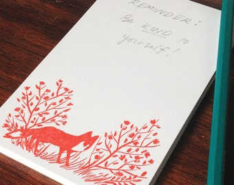 Fox in the Roses Notepad