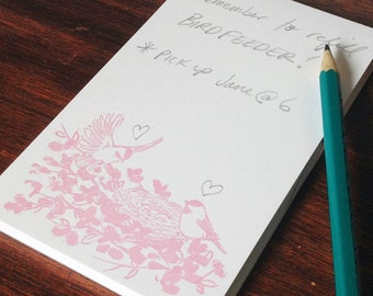 Birds in the Blooms Notepad