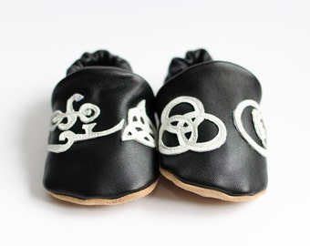 Led Zeppelin 'symbols' Rock n Sole Baby Slippers
