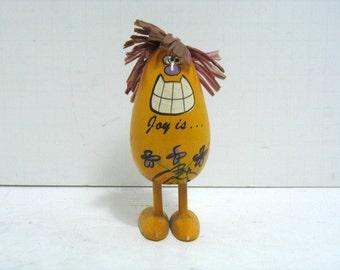 Vintage Popsie Pop-Up Pride Creations Joy Is..Me 'N You Wooden Figure Hippie