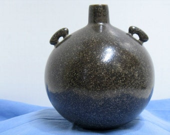 Vintage Saki Weed Jug Japanese Ceramic Studio Sculpture Bottle Signed Japan