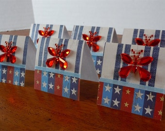Butterflies, Stars and Stripes Mini Cards 2x2 (6)