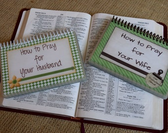 SALE - How to Pray for Your Husband/How to Pray for Your Wife Set, Spiral-Bound, Laminated Prayer Cards