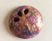 Polymer Clay Handmade Cabochon - Round and Hollow - 1 piece - 45mm
