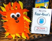 SALE - The Original Fear-Knot - Character Plus Handmade Booklet - Shown In Orange & Bright Yellow