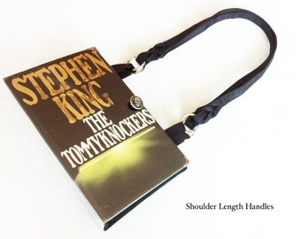 Tommyknockers Recycled Book Purse - Stephen King Repurposed Book Cover Bag - Horror Genre Book Cover Handbag