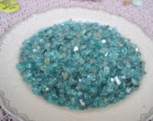 Pretty Teal Tumbled Glass Mirror Pieces for Mosaic Art Crafts Embellishements Mosaic Supplies Crushed Teal Glass Loose Glass 5 oz bag