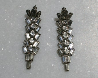 Vintage 50s Rhinestone Earrings