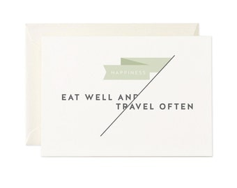 Eat Well, Travel Often | Greeting Card | Gift Card | Toodles Noodles