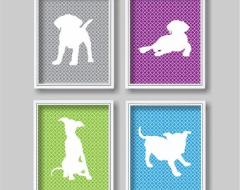 Playful Puppy for Girls Nursery Wall Art