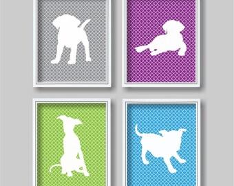 Playful Puppy for Girls Nursery Wall Art