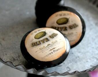 Vintage Knobs Olive Oil 2 pc set
