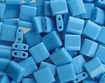 Miyuki Tila TL413 Opaque Turquoise Blue  Glass Beads 10 grams