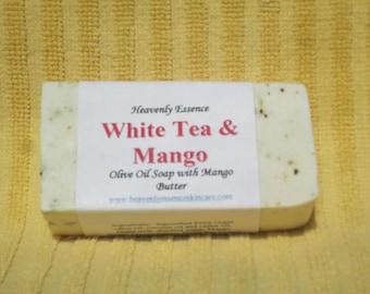 White Tea & Mango Olive Oil Goat milk soap