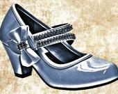 blue bow high heel shoe clip art png digital image download womens fashion art graphics
