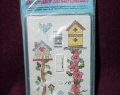 Cross-Stitch Kit---Decorator SWITCHPLATE--Sealed--Unused KIT--Complete