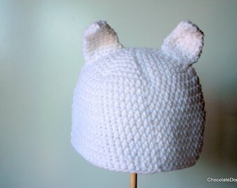 Cat hat with ears, adult