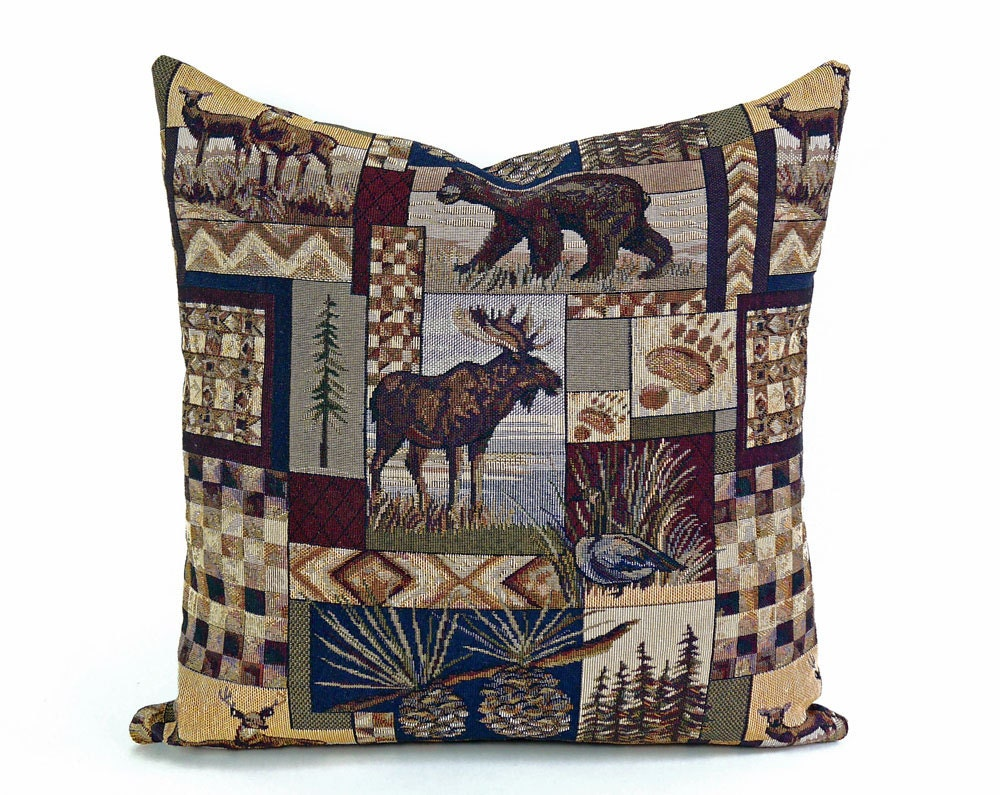Wildlife Pillow Covers Lake House Decorative Pillows Rustic