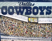 DALLAS COWBOYS Football Jigsaw Puzzle 1994 513 Piece New Factory Sealed Team NFL Great Gift