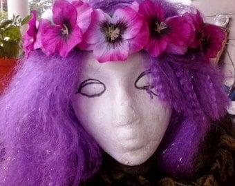 Pretty Pansy Flower Crown