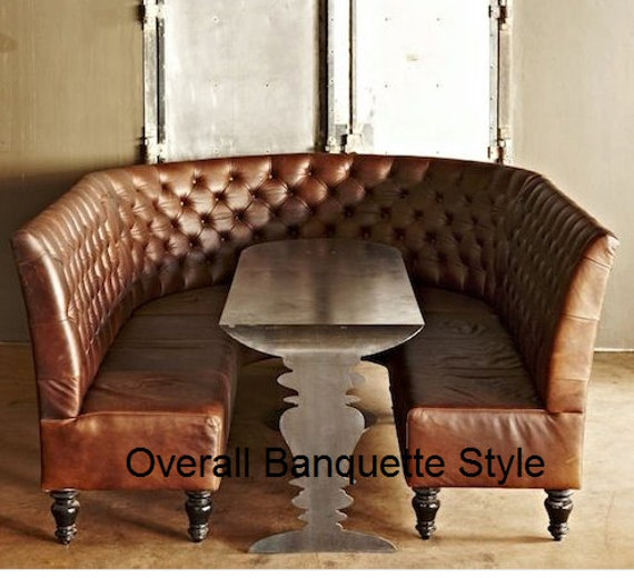 Curved Dining Banquette: Custom Listing Curved Tufted Banquette Kitchen Booth