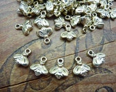 Charm Gold Bee Charms Baby Bee Small Bee Charm (10)