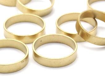 Brass Ring Setting - 24 Raw Brass Ring Setting (17mm) Bs-1134--R009