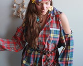 Red Patchwork Plaid Lace ...