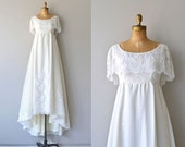 Niara wedding gown | vintage 1970s wedding dress • empire waist wedding dress