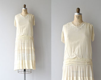 Paillette silk dress | 1920s silk dress • vintage 20s wedding dress
