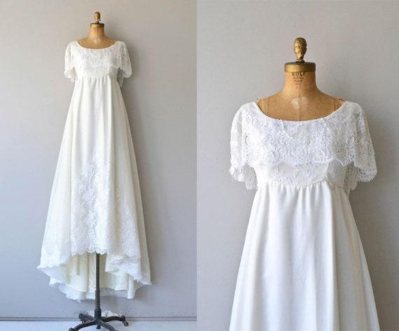 Niara Wedding Gown Vintage 1970s Wedding Dress Empire