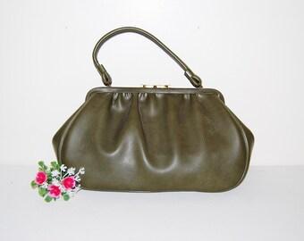 Vintage Handbag Olive 1960's Jaclyn