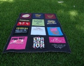 Tshirt Memory Quilt with your choice of Tshirts such as Retro TV Shows