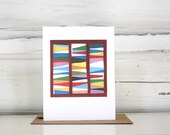 Quilt Color Study greeting card