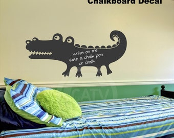 Alligator Chalkboard Wall Decal Self Adhesive large vinyl lettering wall sticker boys room nursery