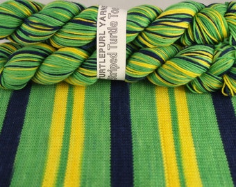 We Aim to Misbehave - Hand-dyed Self-striping sock yarn