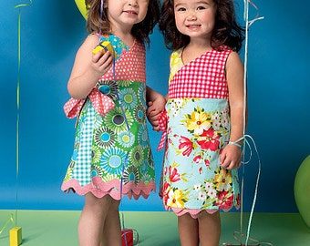 GIRLS DRESS PATTERN / Make Boutique Style Wrap Dress / Summer Clothes / Sizes 1 - 3 or 4 - 6