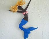 Mermaid Wall Art Sculpture - Faye - Ocean Beach House Wall Decor Mermaid Wall Hanging